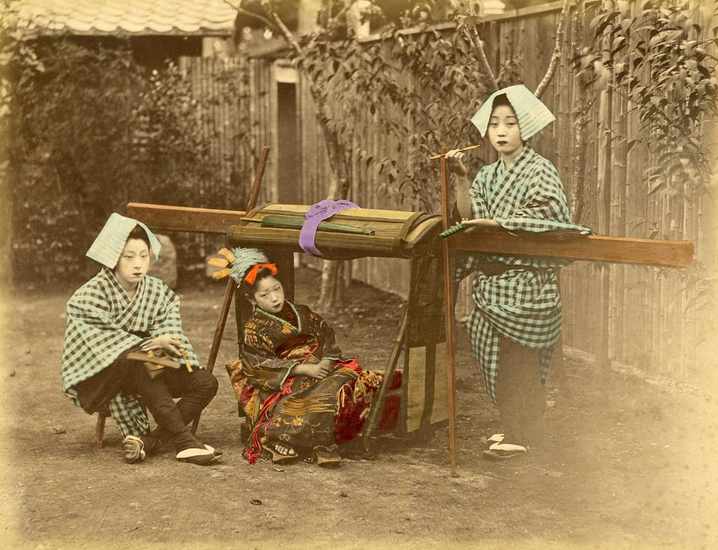 Geiko Kayo with Tabacco Pipe and Pouch 1870s | por Blue Ruin 1