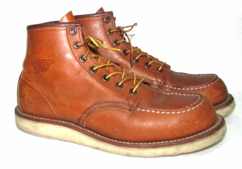 4e2430c5061 Red Wing Mens Boots 875 6-Inch Moc Toe 9 D Heritage Work Crepe Sole ...