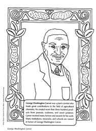 george washington carver coloring pages - search chemistry black history and black history month