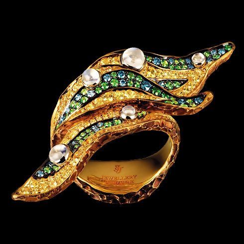 Jewellery Theatre. Leaf ring...♡