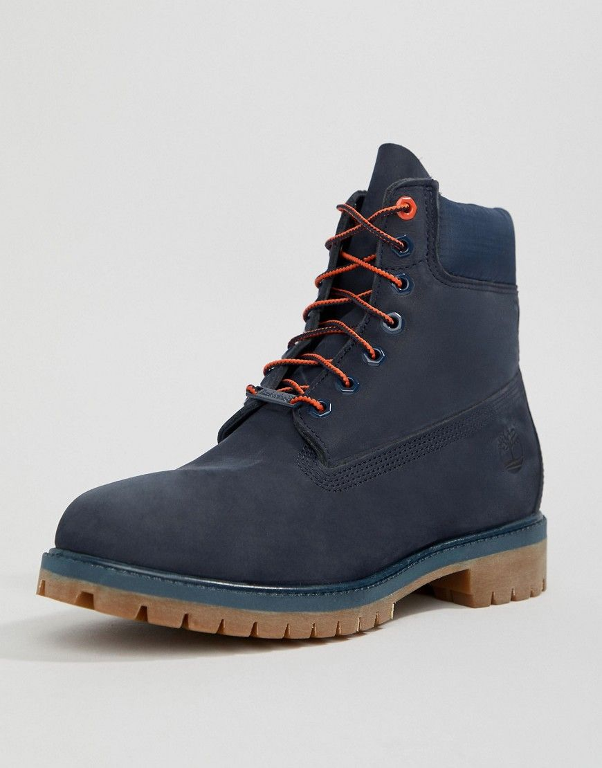 TIMBERLAND 6 INCH PREMIUM BOOTS IN NAVY - NAVY.  timberland  shoes ... 3b6349603a0a