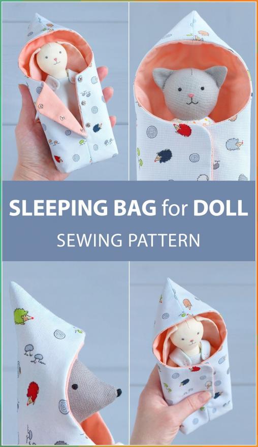 #sewingtoys SLEEPING BAG FOR MINI DOLL — PDF SEWING PATTERN & TUTORIAL Followi... ##sewingtoys #SLEEPING #BAG #FOR #MINI #DOLL #— #PDF #SEWING #PATTERN #TUTORIAL #Followi...