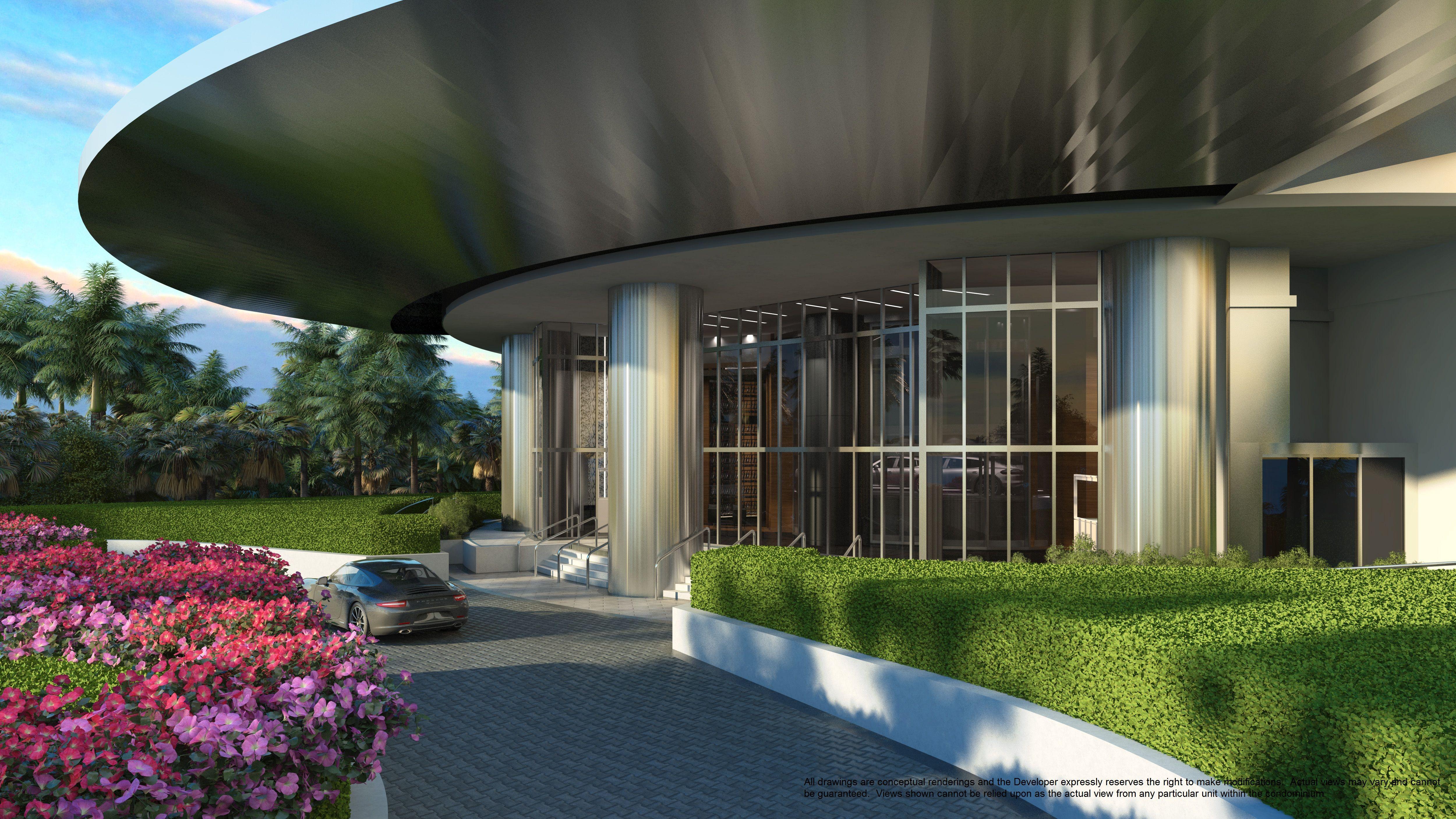 porsche design tower miami. driveway. for more information