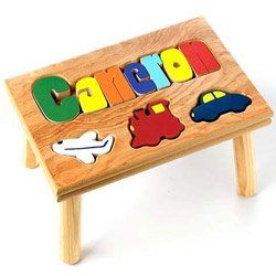 TOPSELLER! Personalized Transportation Puzzle Stool $42.00