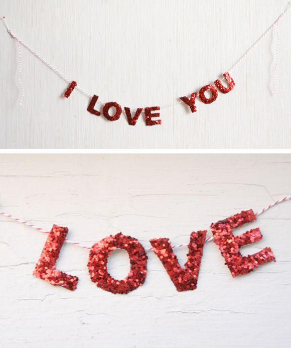 love you garland #diy