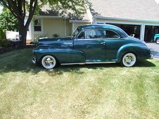 1948 Chevrolet 5 Window Coupe Wi 22 000 Under 10 000 Miles 2 Door Dark Green Exterior W Gray Interior New Stock Inter Classic Cars For Sale Chevr