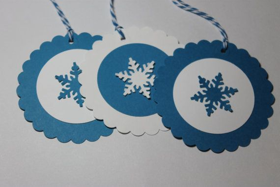 8 Beautiful 3 Winter Snowflake Tags by ThePaperOwl13 on Etsy, $6.00