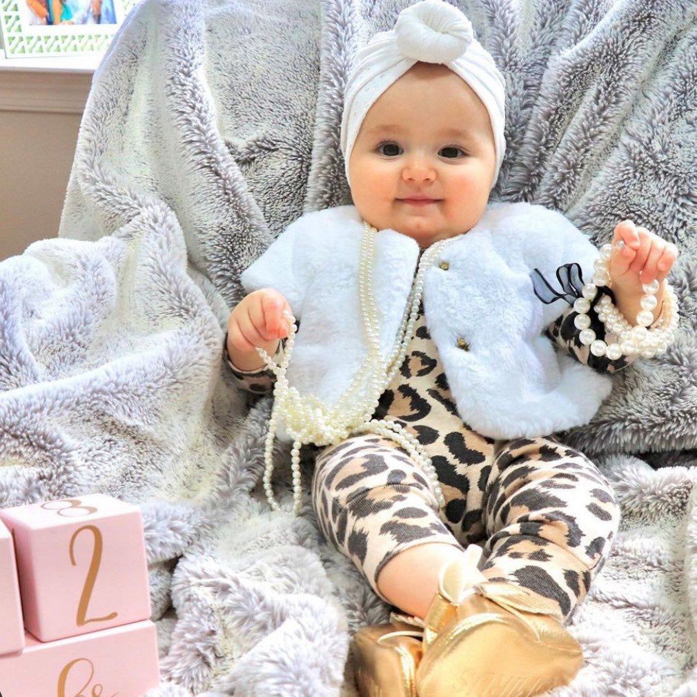 Tesababe Leopard Baby Outfit Newborn Cheetah Personalized Newborn Girl Coming Home Outfit Newborn Girl Leopard Coming Home Outfit