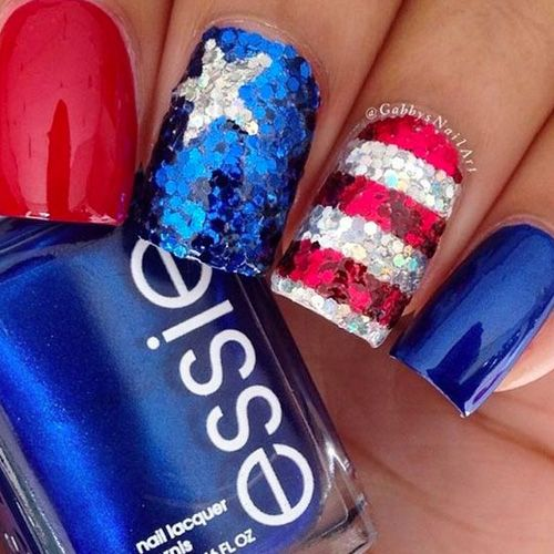 4th of july nails best red white and blue nails blue nails 4th of july nails best red white blue nails see them all prinsesfo Images