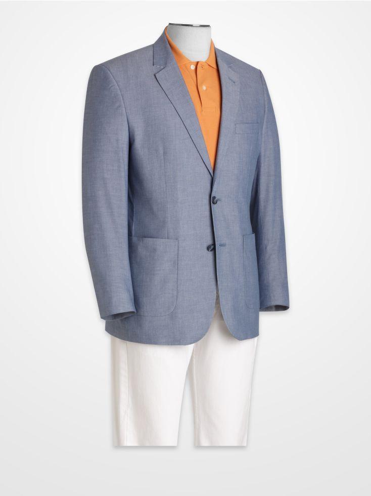 Linea Uomo Light Blue Linen Sport Coat | Summer Sport Coats ...