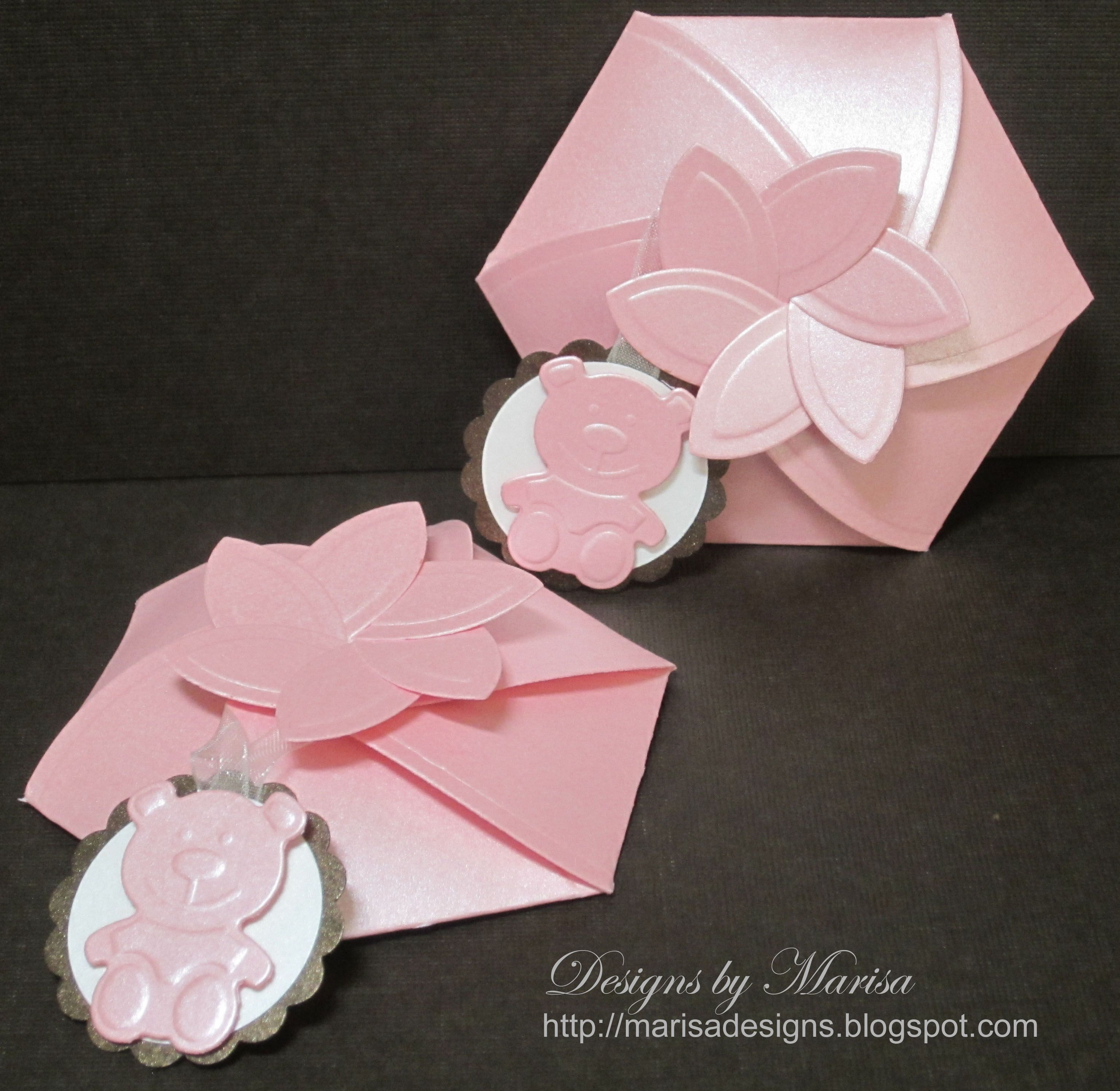 Baby shower favor boxes pinterest : Quot baby shower party favor boxes using spellbinders die