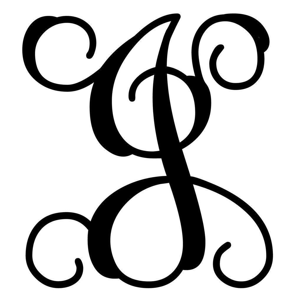 vine monogram door decor   ~vinyl~   pinterest   monogram, lettering