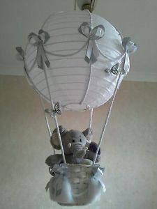 Cute Little Elephant In Hot Air Balloon Light Lamp Shade Made To Order