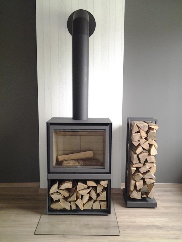 Log Holder Transporteur bois noir Fireside par Originals