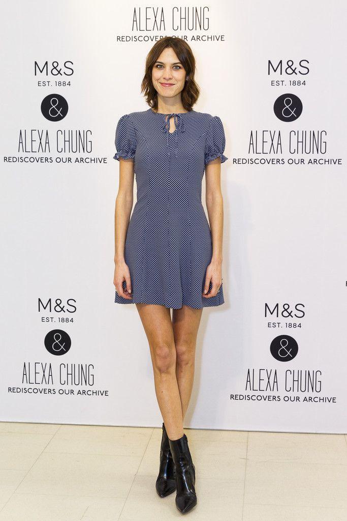 2b422712680a Alexa Chung Photos Photos  Marks   Spencer Announces a Collaboration ...