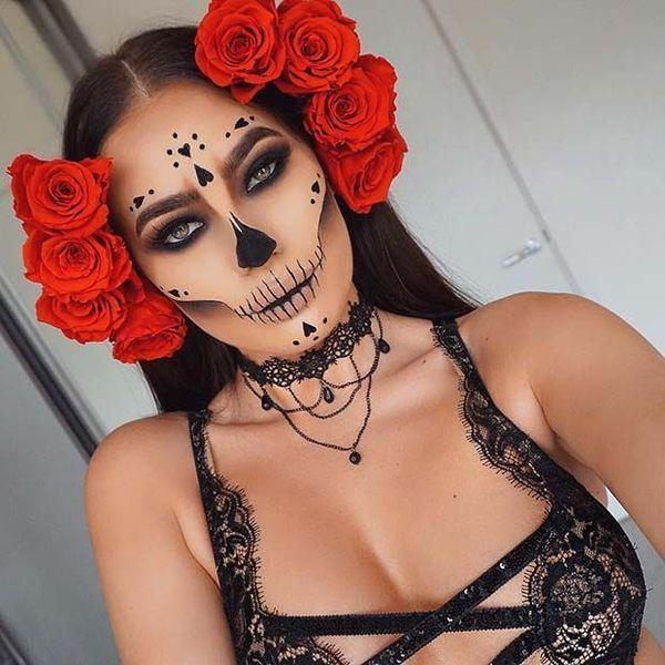 56 Nieuwste Sugar Skull make-up creaties om Halloween te winnen 56 Nieuwste Sugar Skull make-up cre