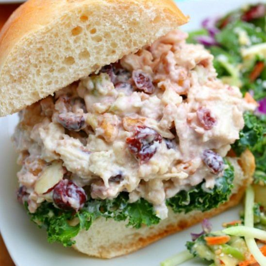 Cranberry Chicken Salad. A Tasty Blend Of Chicken Toasted