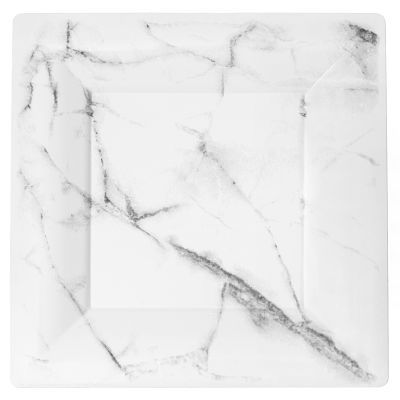 EGS95W6QRY 9.5 Marble Look Square White Plastic Dinner Plates  sc 1 st  Pinterest & EGS95W6QRY 9.5 Marble Look Square White Plastic Dinner Plates ...