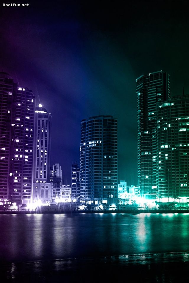 Awesome Dark City Wallpaper Desktopaper Hd Desktop Wallpaper City Wallpaper Purple City Building