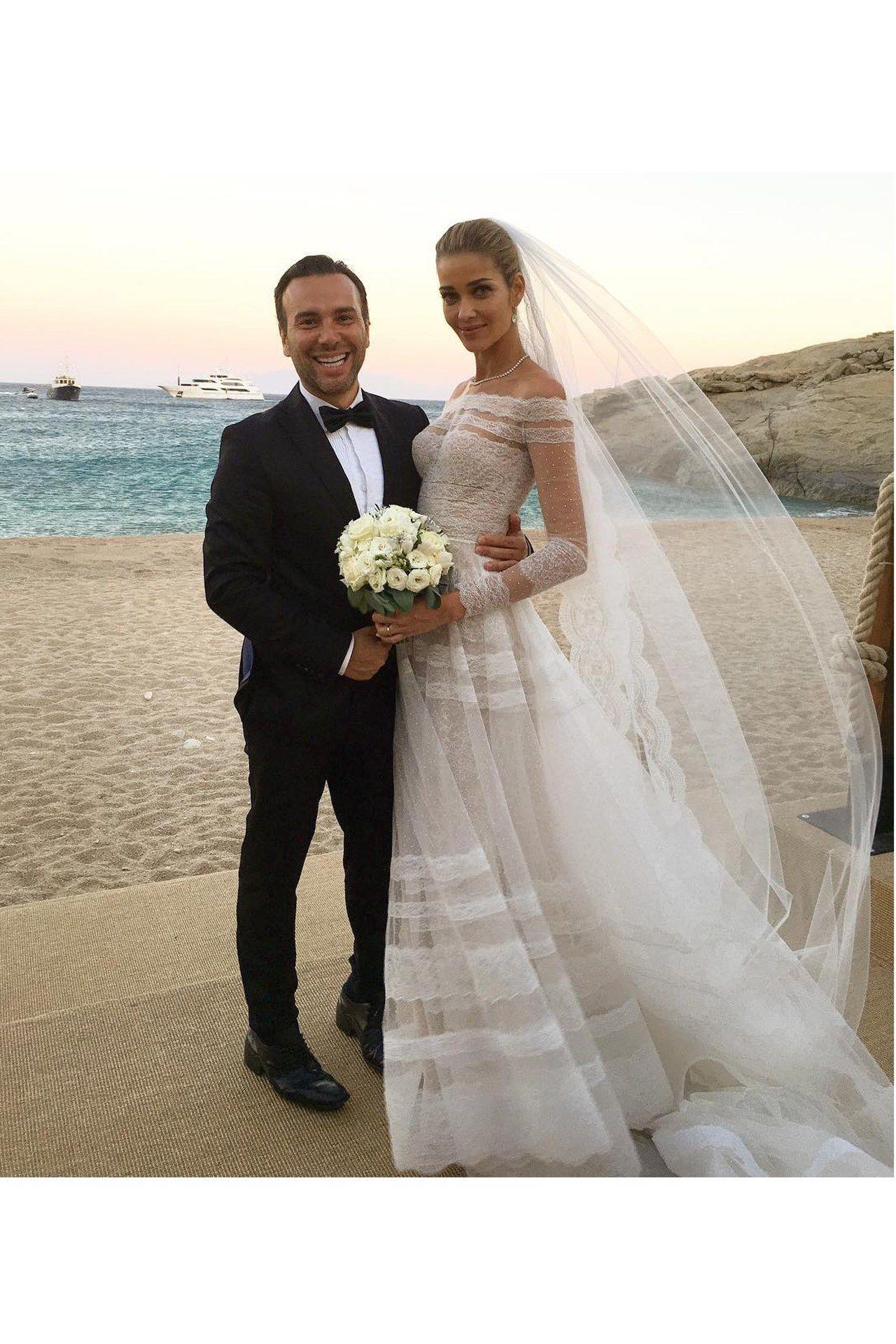 Ana\'s Starry Nuptials | Mykonos, Wedding and Wedding dress