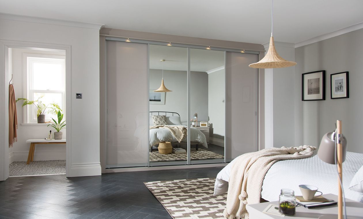 premium selection 67be0 c8897 Cashmere glass & mirror | Fitted bedroom furniture, Sliding ...