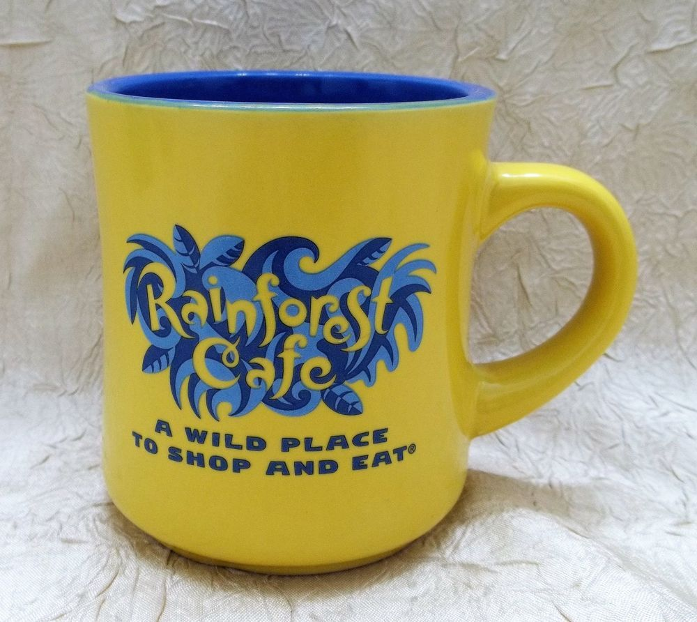 Mug A Cafe Rainforest Cafe Yellow Coffee Mug A Wild Place To Shop And Eat Cup
