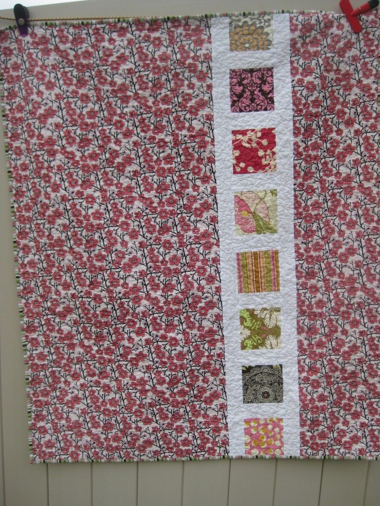 square in a square quilt back