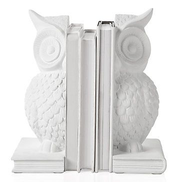 White Owl Bookends From Z Gallerie White Owl Bookends Owl Bookends Owl Decor
