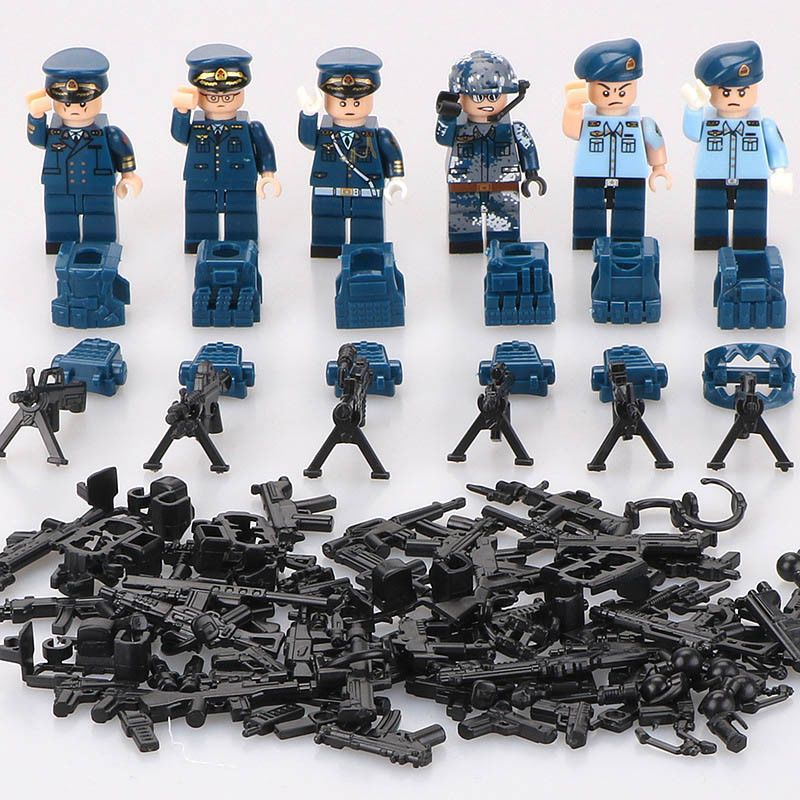 Model Building Kits 8 In 1 New Compatible Legoinglys Military Swat Minifigure Ww2 German Army Building Blocks Toys For Children Enlighten Gift