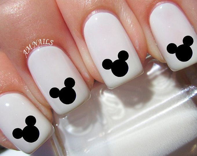 Mickey Mouse nail decals, very pretty, bright stickers with unique ...