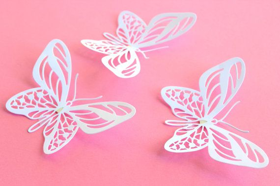 3D Butterfly wall art, Wall Butterflies, Butterfly Wall decor ...