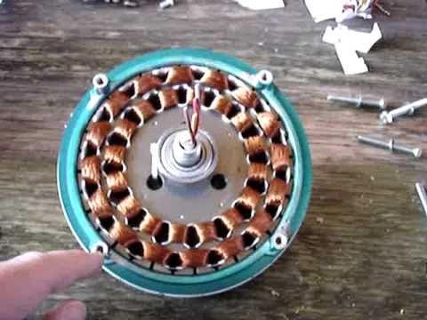 Ceiling fan to wind generator conversion demo youtube for Repurpose ceiling fan motor