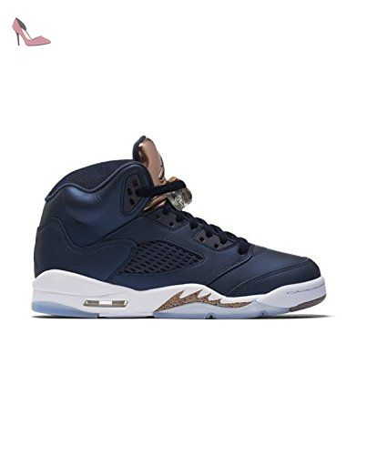 the best attitude 9eb9a 9cd84 Nike Air Jordan 5 Retro BG- Chaussures de Basketball Homme, Noir (Obsidian /