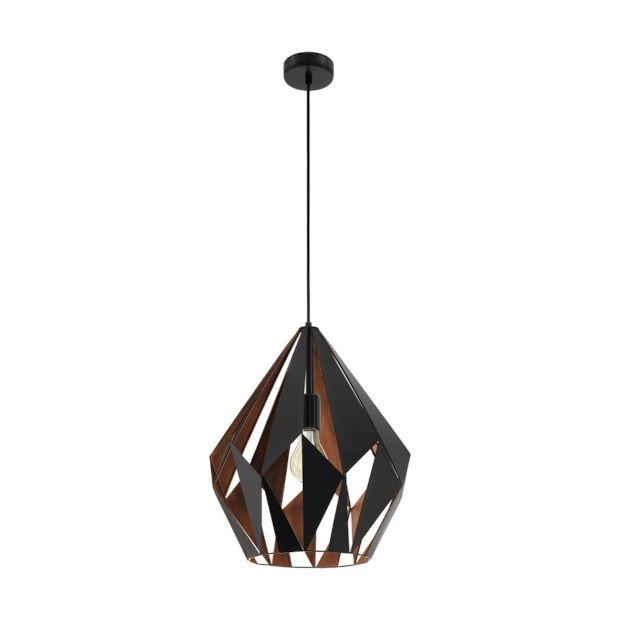 Eglo Carlton 1 Hanglamp 1 Lichts Zwart Koper   38,5 Cm. Home DepotMatte ...