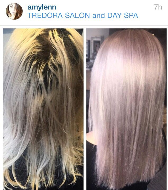 Love This Pale Violet Lavender Toner Over Platinum Blonde