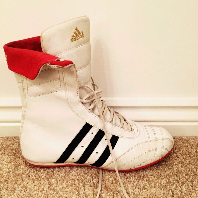 a30d15da5a2c Listed on Depop by d4v1na2986 | A D I D A S | Boxing boots, Adidas ...