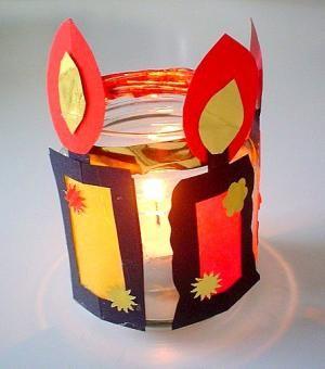 Teelichter Weihnachten Basteln Meine Enkel Und Ich Made With Schwedesign De