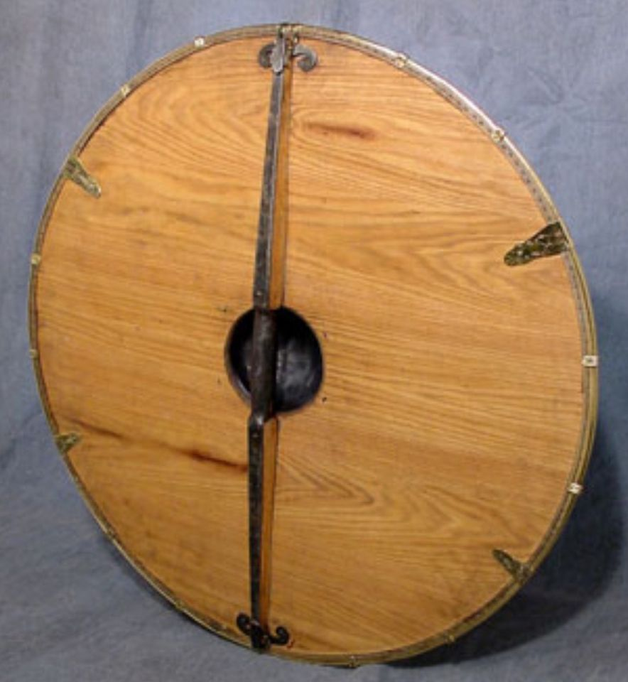 The Back View Of A Circular Flat Shield By Chris Gilman