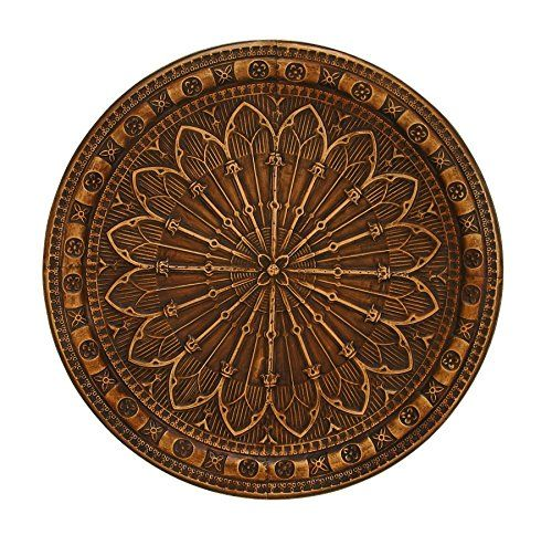 Benzara Metal Wall Decor Smeared With Brown Hues This Is An Affiliate