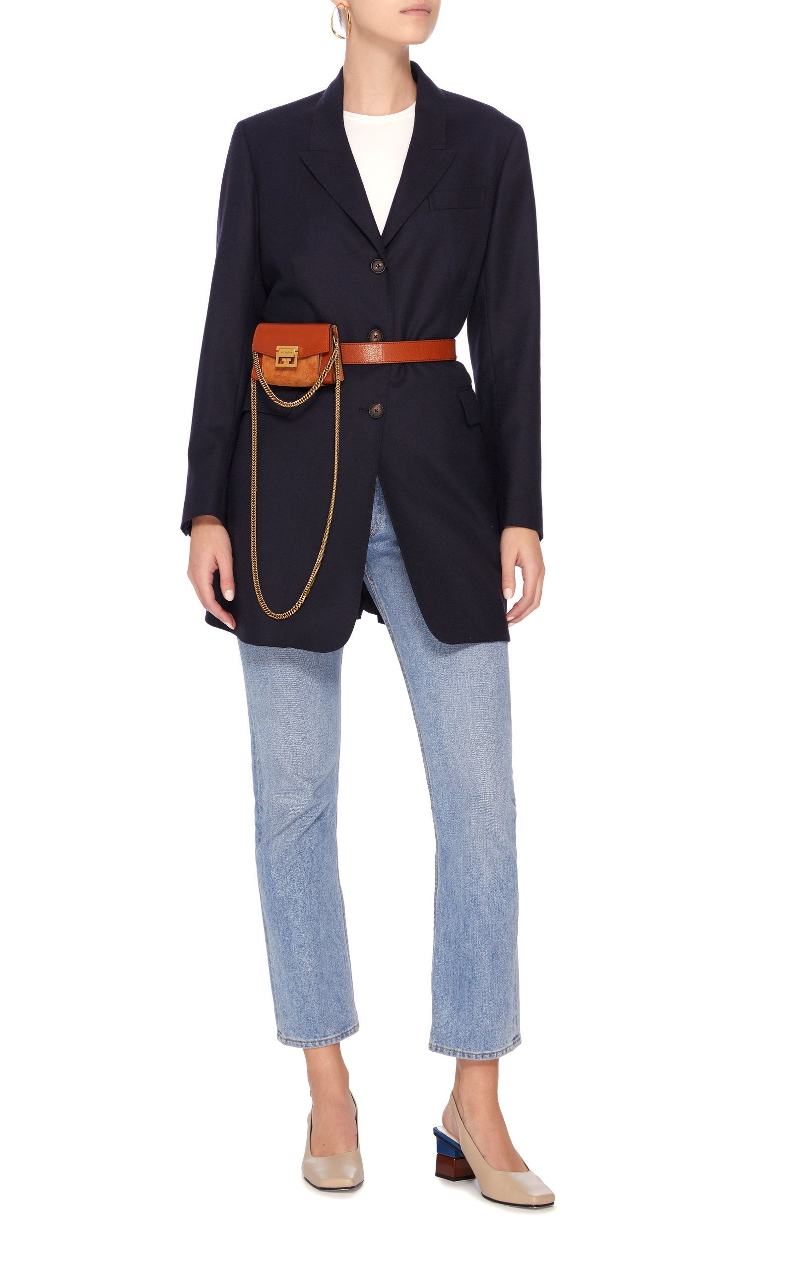 9fafb9d46c9ba3 Givenchy Nano GV3 Leather And Suede Bag Outfit | Belt bags in 2019 ...