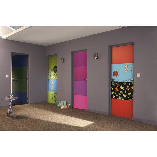 Bloc porte isoplane milan x cm poussant droit total rainbow hallway decorating for Porte isoplane