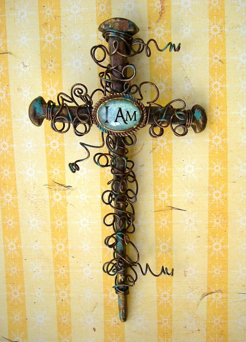 Rustic Nail Wall Cross   Holiday Ideas   Pinterest   Walls, Craft ...