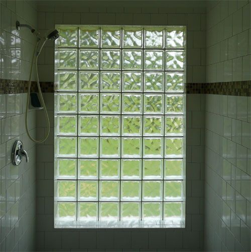 Glass Block On The Outside Wall :) Http://houstonshowerrepair.com/