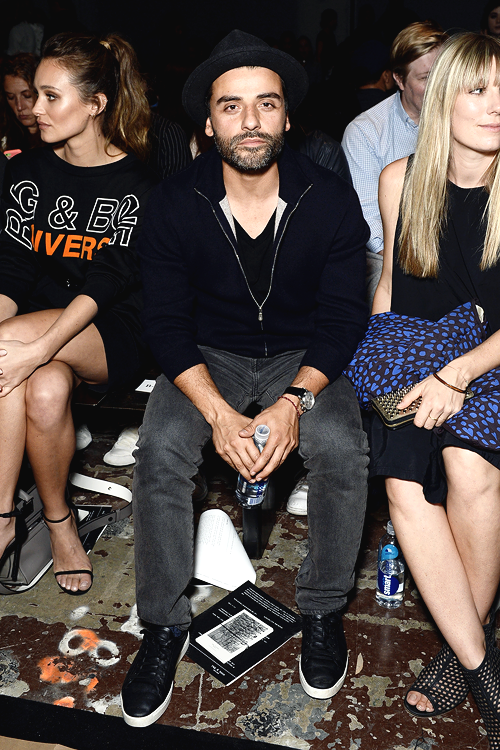 Oscar Isaac attends the Rag & Bone fashion show during New York Fashion
