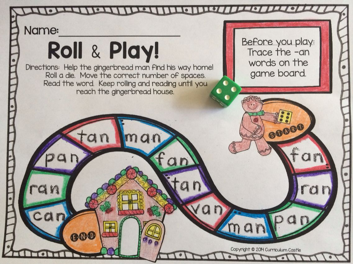 Cvc An Family Gingerbread Man Christmas Game Board Trace The Words On The Board Roll An Christmas Kindergarten Kindergarten Themes Kindergarten Activities [ 852 x 1136 Pixel ]