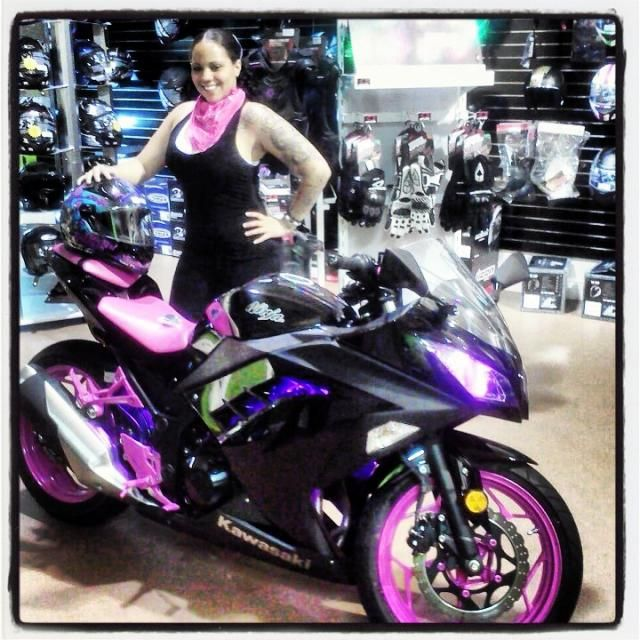 Love The Smile On Her Face I Like Purple Wheels And Accents Around