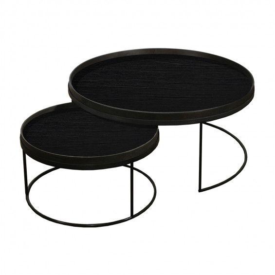 Attractive Notre Monde Round Tray Table Set | MisterDesign