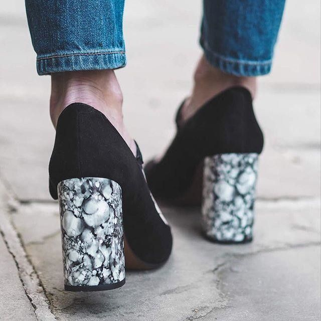 Dress up feet with in these suede Mary Janes. Think on-trend details with a marble effect block heel and an adjustable ankle strap fastening.  #Topshop
