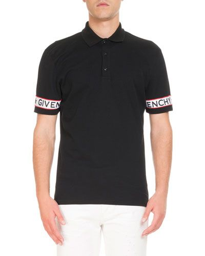 acf7e59d N53K4 Givenchy Logo-Webbing Polo Shirt | Fashion | Polo Shirt ...