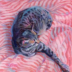 Pets Paintings - Candy Cane  by Kimberly Santini